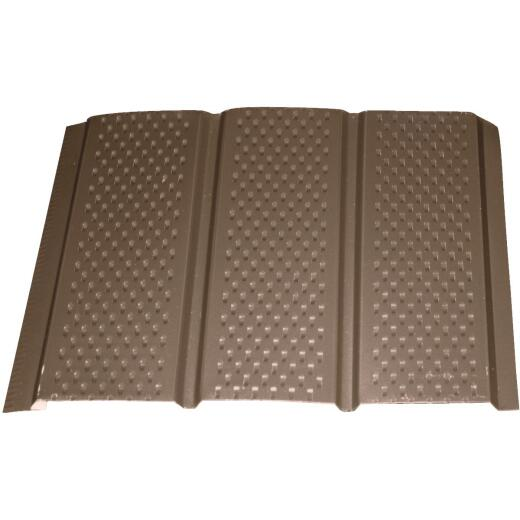 Klauer 12 In. Brown Fully Vented Aluminum Soffit