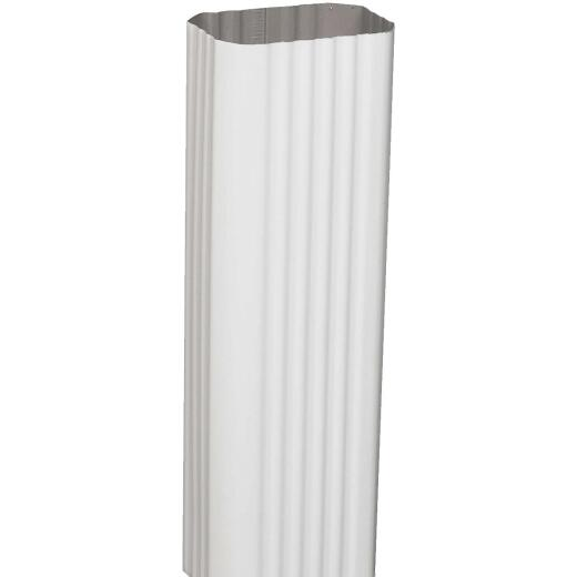 Amerimax 2 In. x 3 In. White Aluminum Downspout