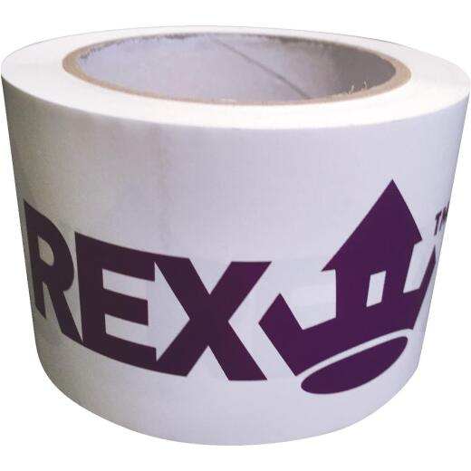 REX 3 In. x 165 Ft. White  Seaming Tape