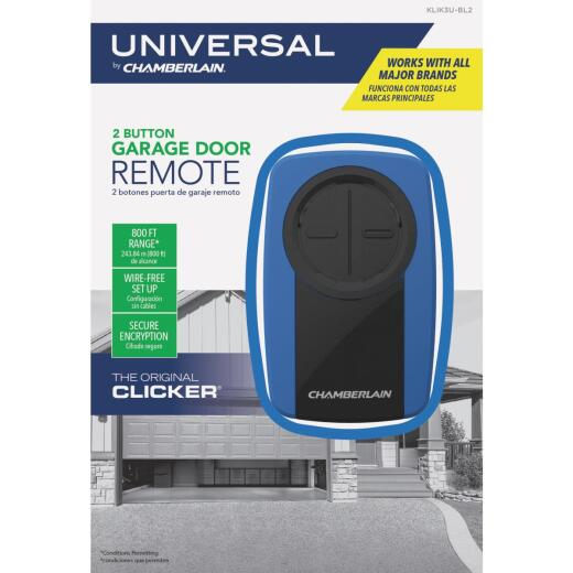 Chamberlain Original Clicker 2-Button Blue Universal Garage Door Remote Control