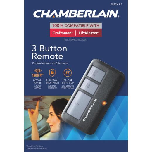 Chamberlain 3-Button Black Garage Door Remote