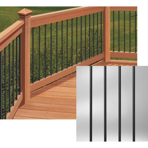 Deckorators 26 In. Black Aluminum Classic Baluster (10-Pack)
