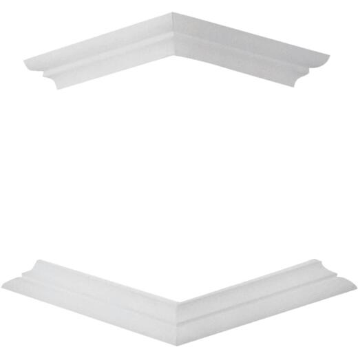 Crown Column DuraSnap 4 In. x 4 In. White PVC Bed Mould Post Trim Kit