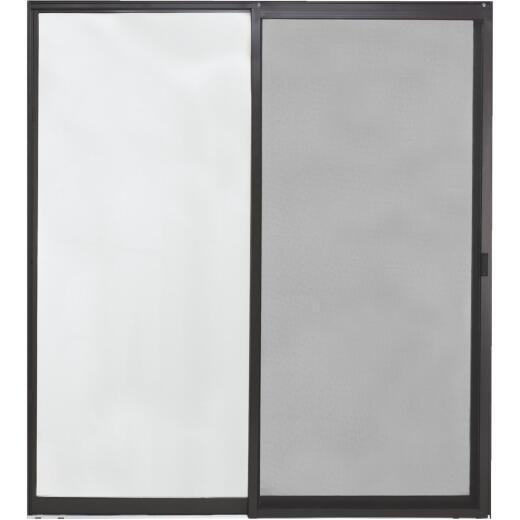 Croft Aluminum 71-1/2 In. W. x 81-1/2 In. H. Bronze Reversible Glass Sliding Patio Door Kit