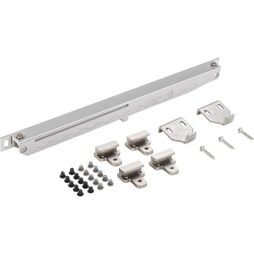 National Hardware Satin Nickel Plastic Interior Barn Door Soft Close Hardware Kit