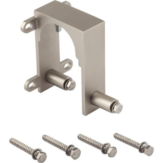 National Satin Nickel Interior Barn Door Bypass Bracket