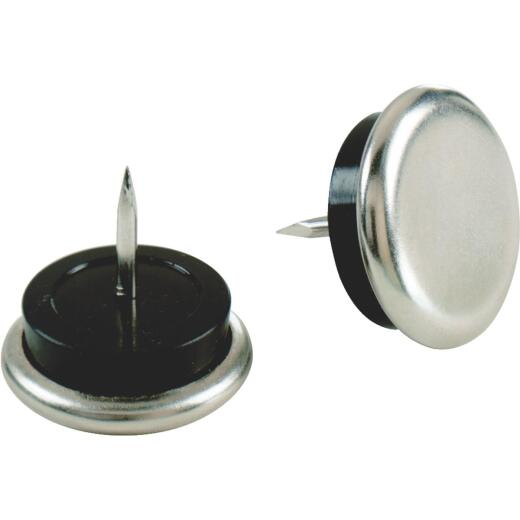 Do it 7/8 In. Round Nail on Furniture Glide with Rubber Cushion,(4-Pack)