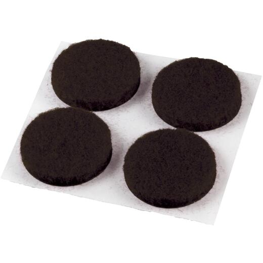 Do it 1/2 In. Brown Round Felt Pad (24-Count)