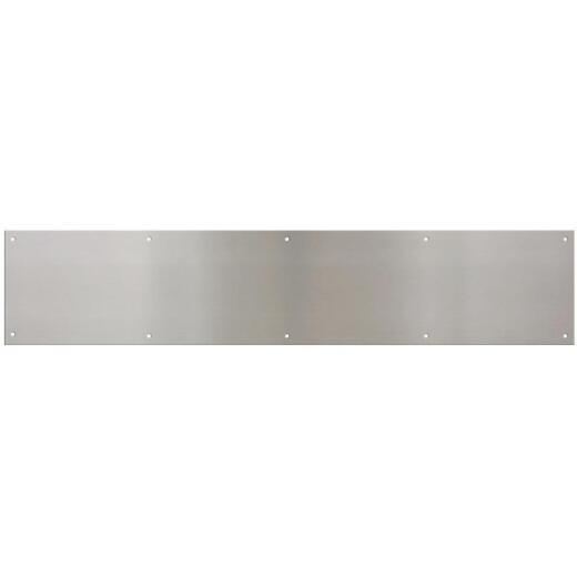 National 6 In. x 30 In. Satin Nickel Aluminum Kickplate