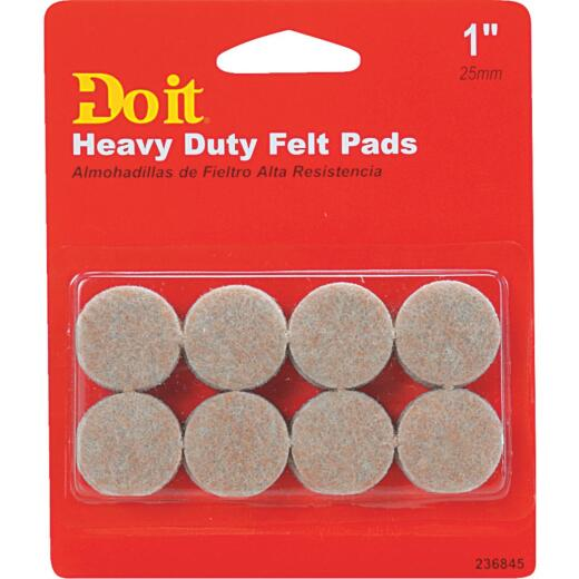 Do it 1 In. Beige Self Adhesive Felt Pads (16-Count)