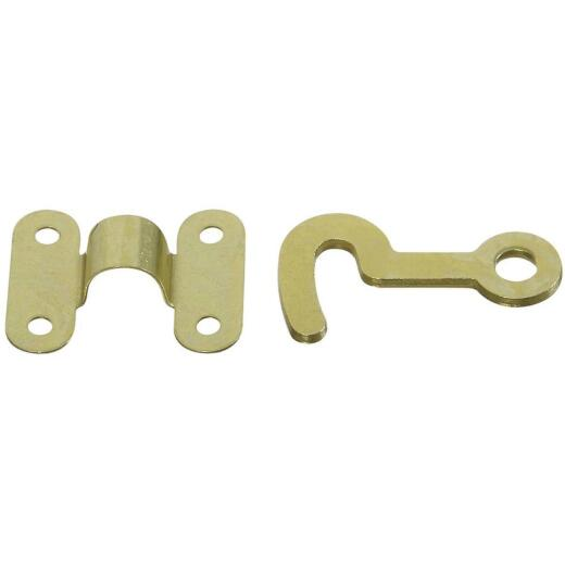 National Solid Brass Hook And Staple (2 Count)