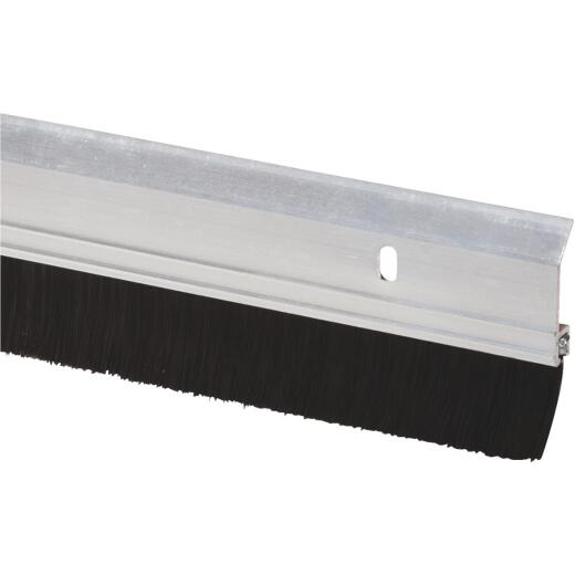 Do it 2 In. W. x 36 In. L. Silver Aluminum Premium Brush Door Sweep