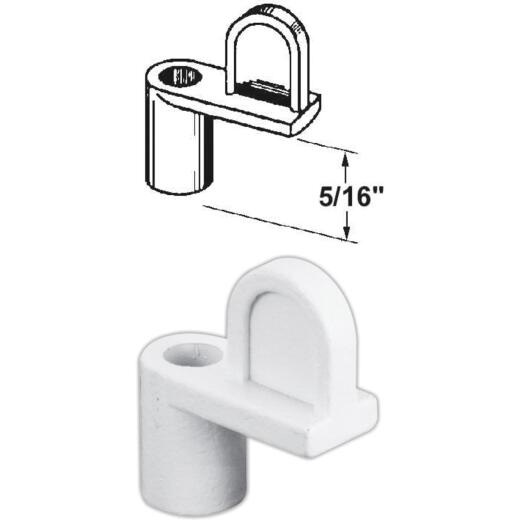 Prime-Line 5/16 In. White Swivel Die-cast Screen Clips With Screws (12 Count)