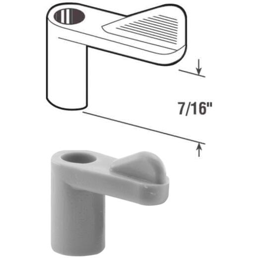 Prime-Line 7/16 In. Gray Swivel Plastic Screen Clips with Screws (12 Count)