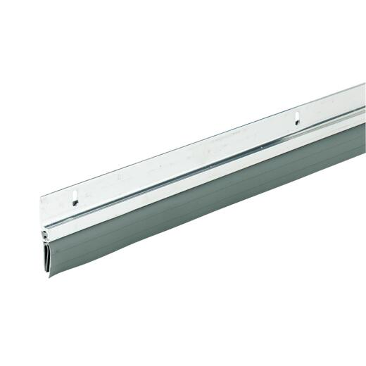 M-D 1-1/4 In. x 36 In. Silver Aluminum & Vinyl Door Sweep