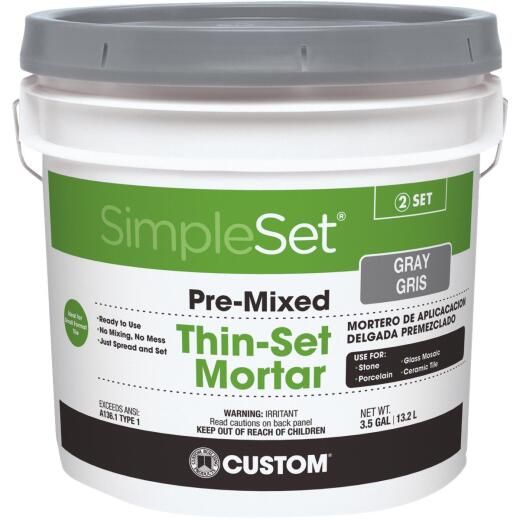 Custom Building Products SimpleSet 3.5 Gal. Gray Pre-Mixed Thin-Set Mortar