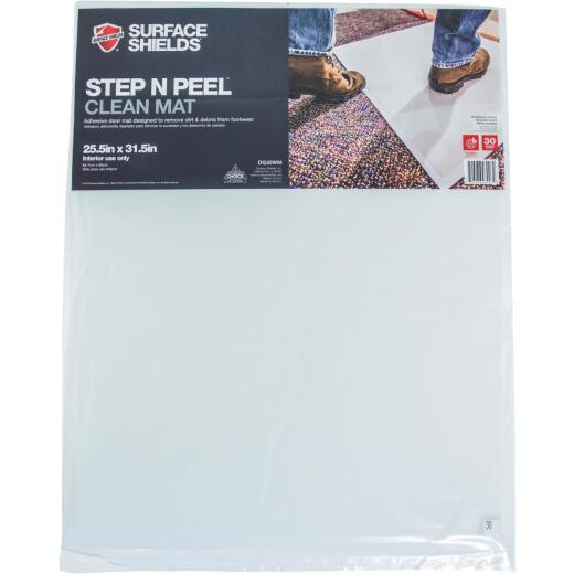 Surface Shields Step N Peel Clean Mat 25.5 In. x 31.5 In. Floor Protector