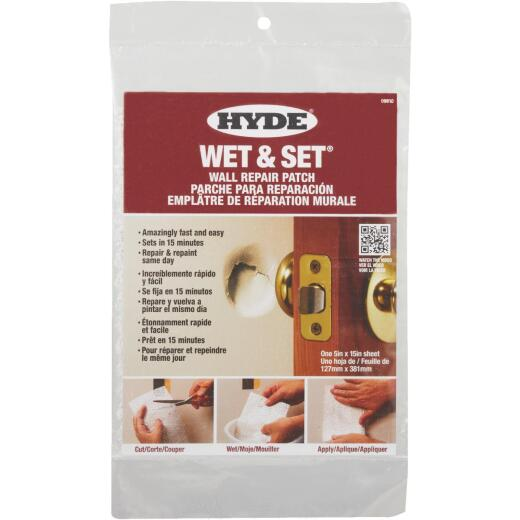 Hyde Wet & Set 5 In. x 15 In. Wall & Ceiling Drywall Patch