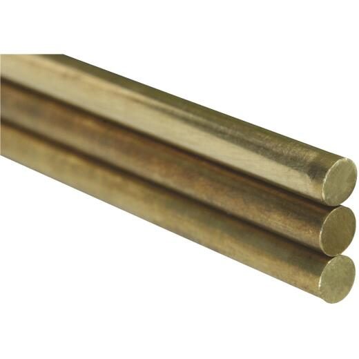 K&S .020 In. x 12 In. Solid Brass Rod (5-Count)