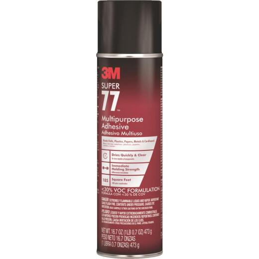 3M Super 77 16.7 Oz. Multi-Purpose Spray Adhesive (California Compliant)