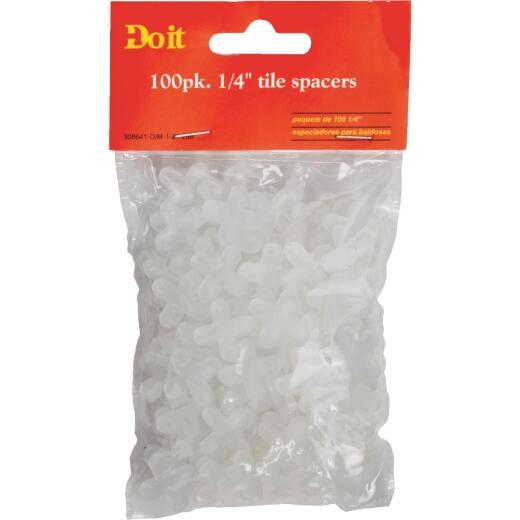 Do it 1/4 In. White Hard Tile Spacers (100-Pack)
