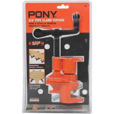 Pony 3/4 In. Pipe Clamp Fixture with Crank Handle for Black Pipe