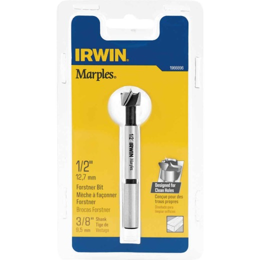 Irwin Marples 1/2 In. x 3-1/2 In. Reduced Forstner Drill Bit