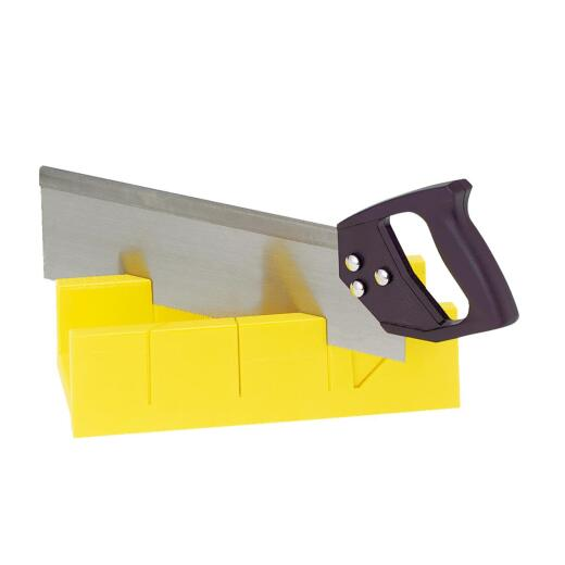 Do it Plastic Miter Box & 14 In. Saw
