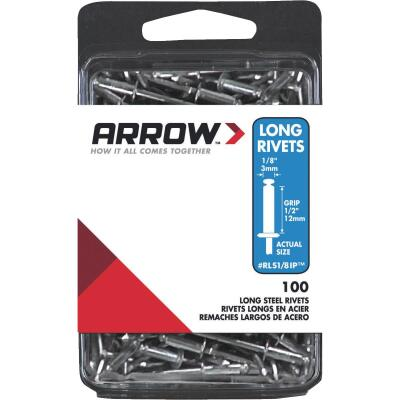 Arrow 1/8 In. x 1/2 In. Steel IP Rivet (100 Count)