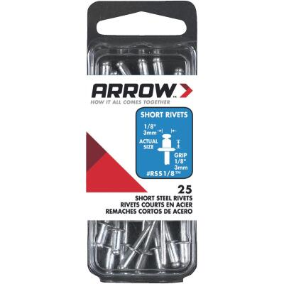 Arrow 1/8 In. x 1/8 In. Steel Rivet (25 Count)
