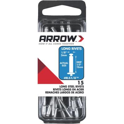 Arrow 1/8 In. x 1/2 In. Steel Rivet (15 Count)