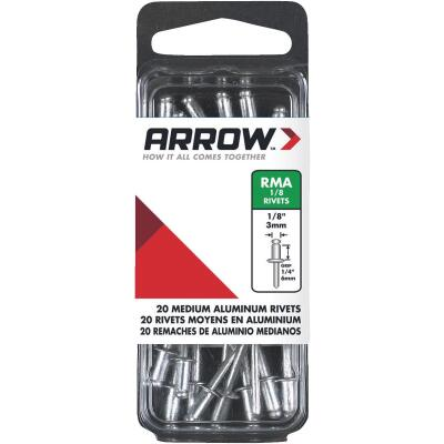 Arrow 1/8 In. x 1/4 In. Aluminum Rivet (20 Count)