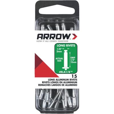 Arrow 1/8 In. x 1/2 In. Aluminum Rivet (15 Count)