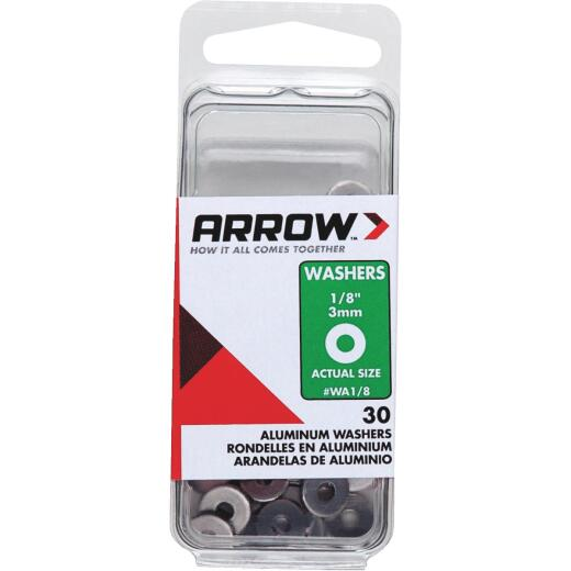 Arrow 1/8 In. Aluminum Rivet Washer (30-Pack)