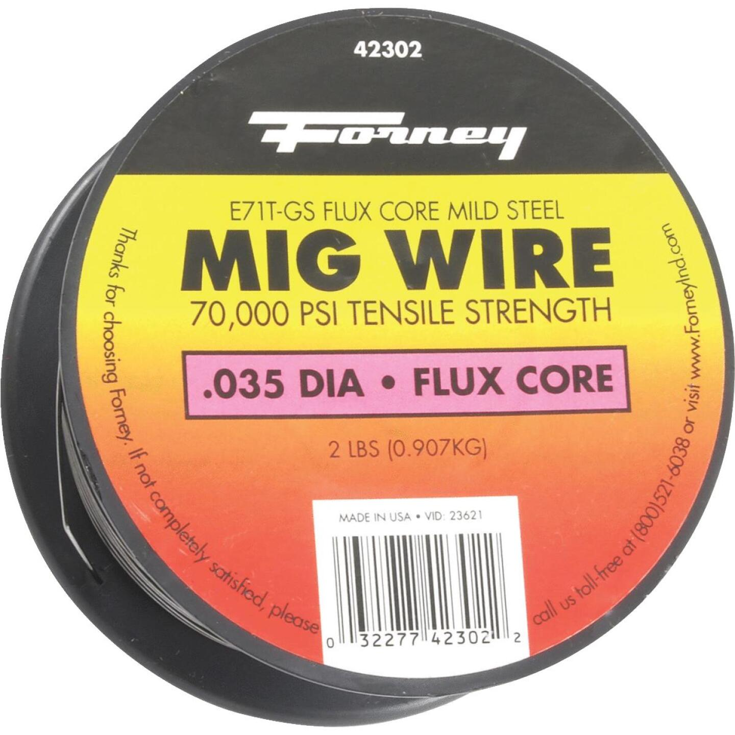 Forney E71T-GS 0.035 In. Flux Core Mild Steel Mig Wire, 2 Lb. Image 1