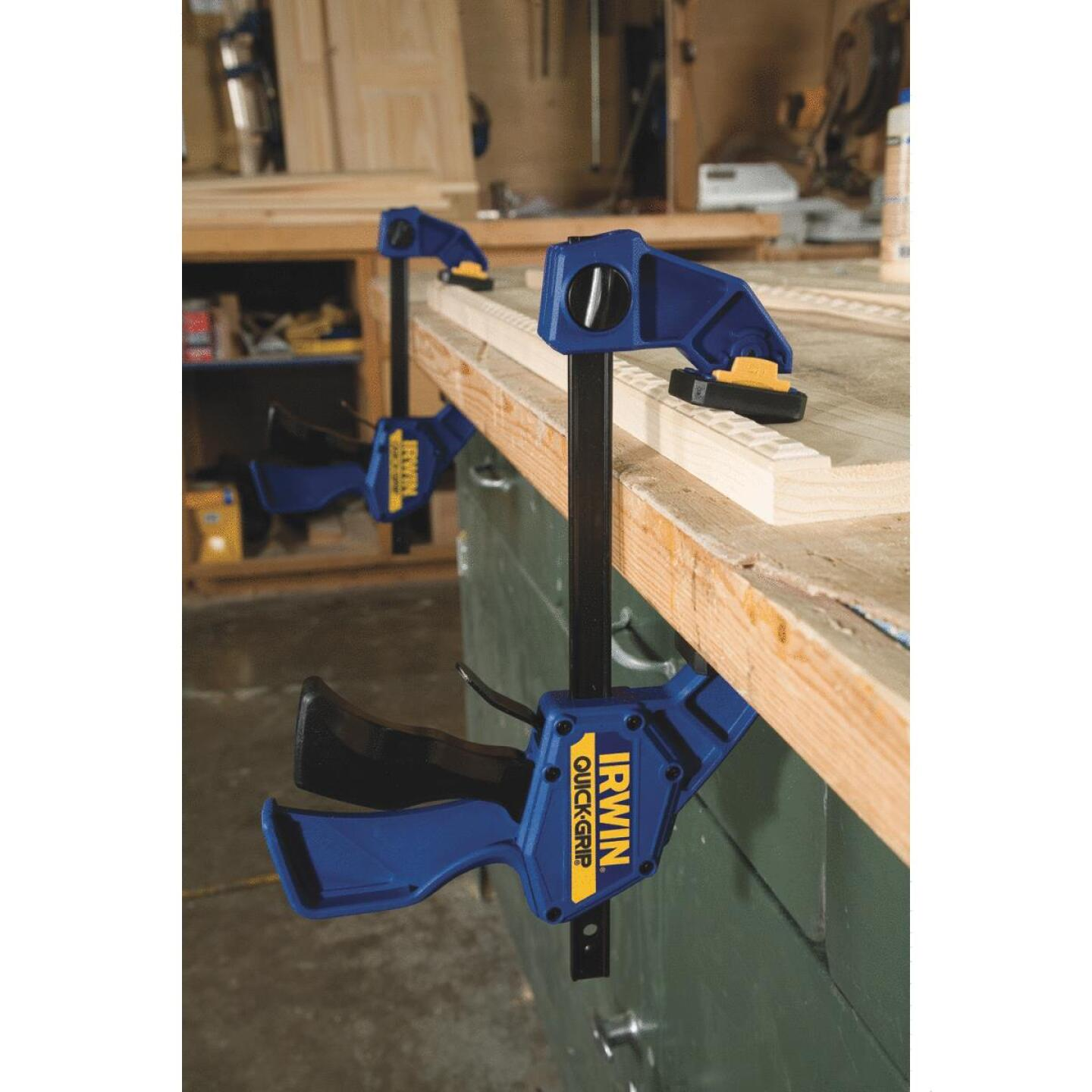 Irwin Quick-Grip 12 In. x 3-1/4 In. One-Hand Bar Clamp Image 14