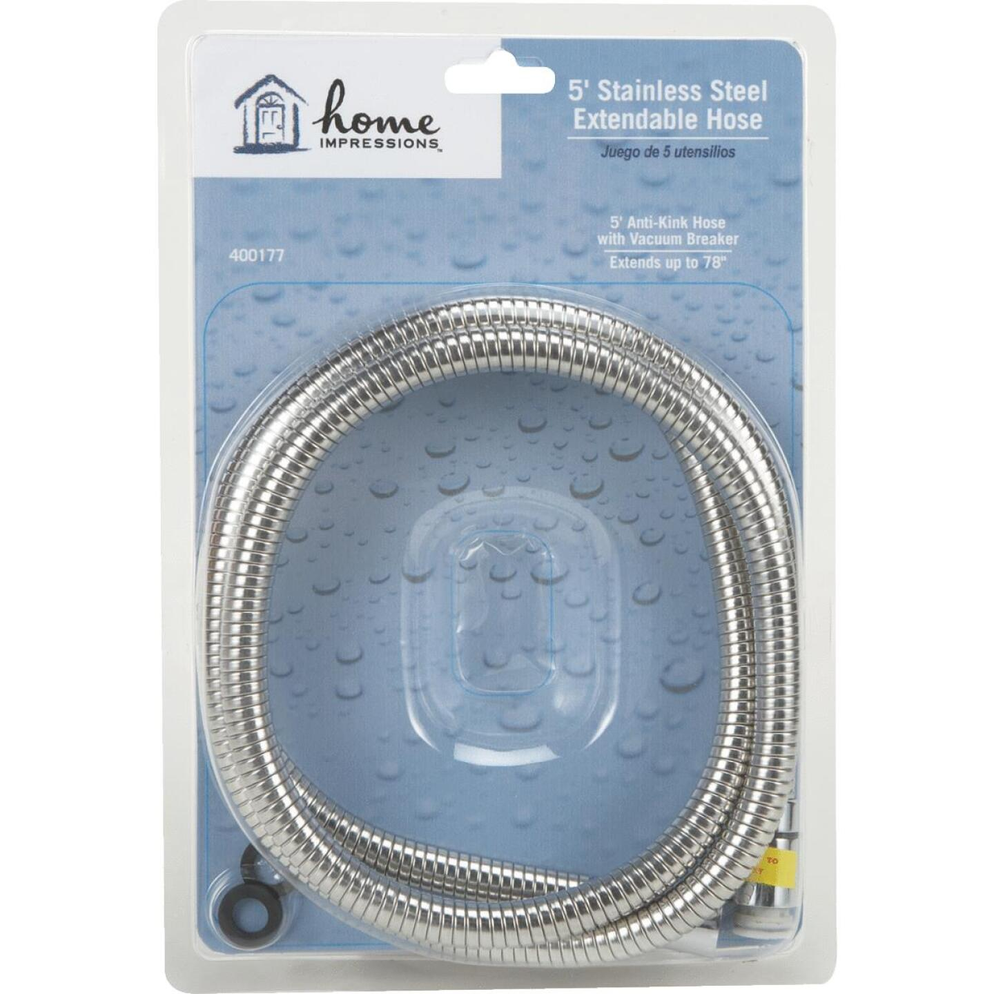 Home Impressions Stainless Steel 60 In. To 82 In. Extendable Shower Hose Image 2