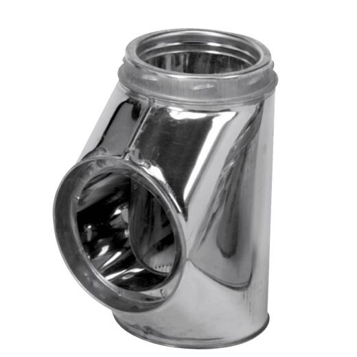 SELKIRK Sure-Temp 6 In. Stainless Steel Insulated Tee with Cap