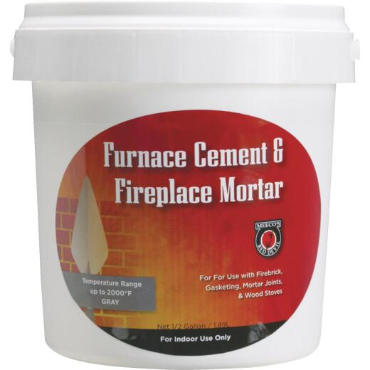 Meeco's Red Devil 1/2 Gal. Gray Furnace Cement & Fireplace Mortar