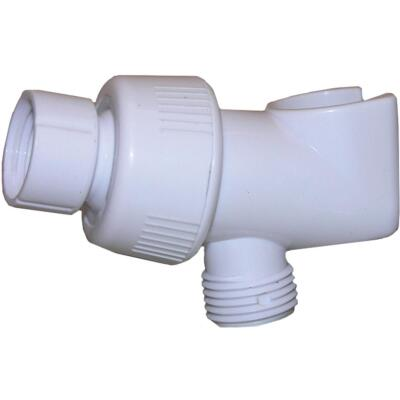 Lasco White Plastic Shower Bracket