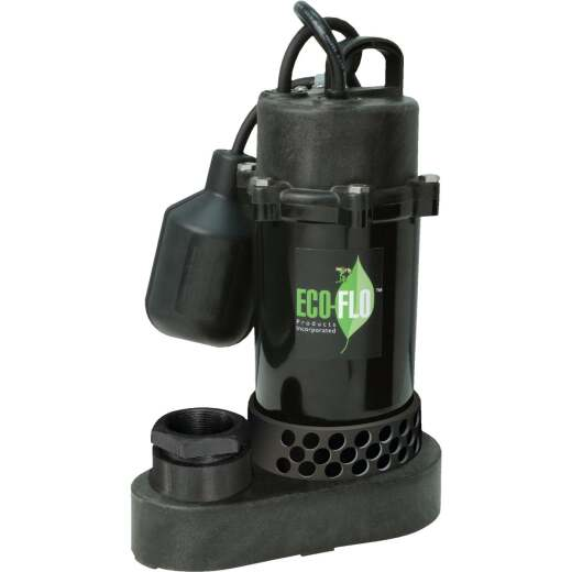 ECO-FLO 1/3 HP Wide Angle Switch Submersible Thermoplastic Sump Pump