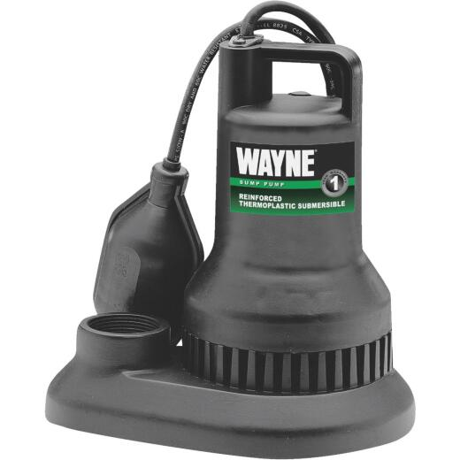 Wayne 1/3 HP 115V Plastic Submersible Sump Pump
