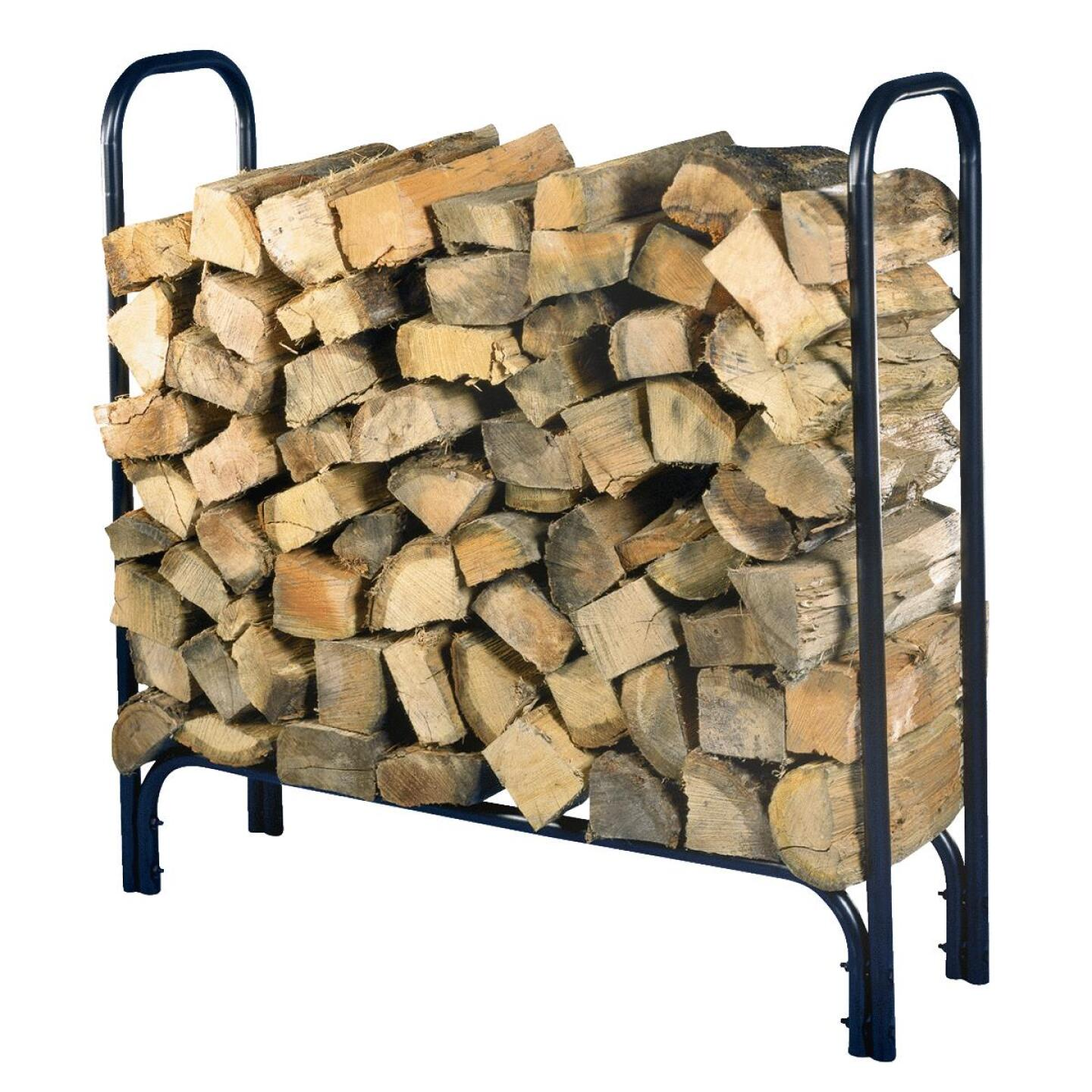Home Impressions 4 Ft. Black Tubular Log Rack Image 1