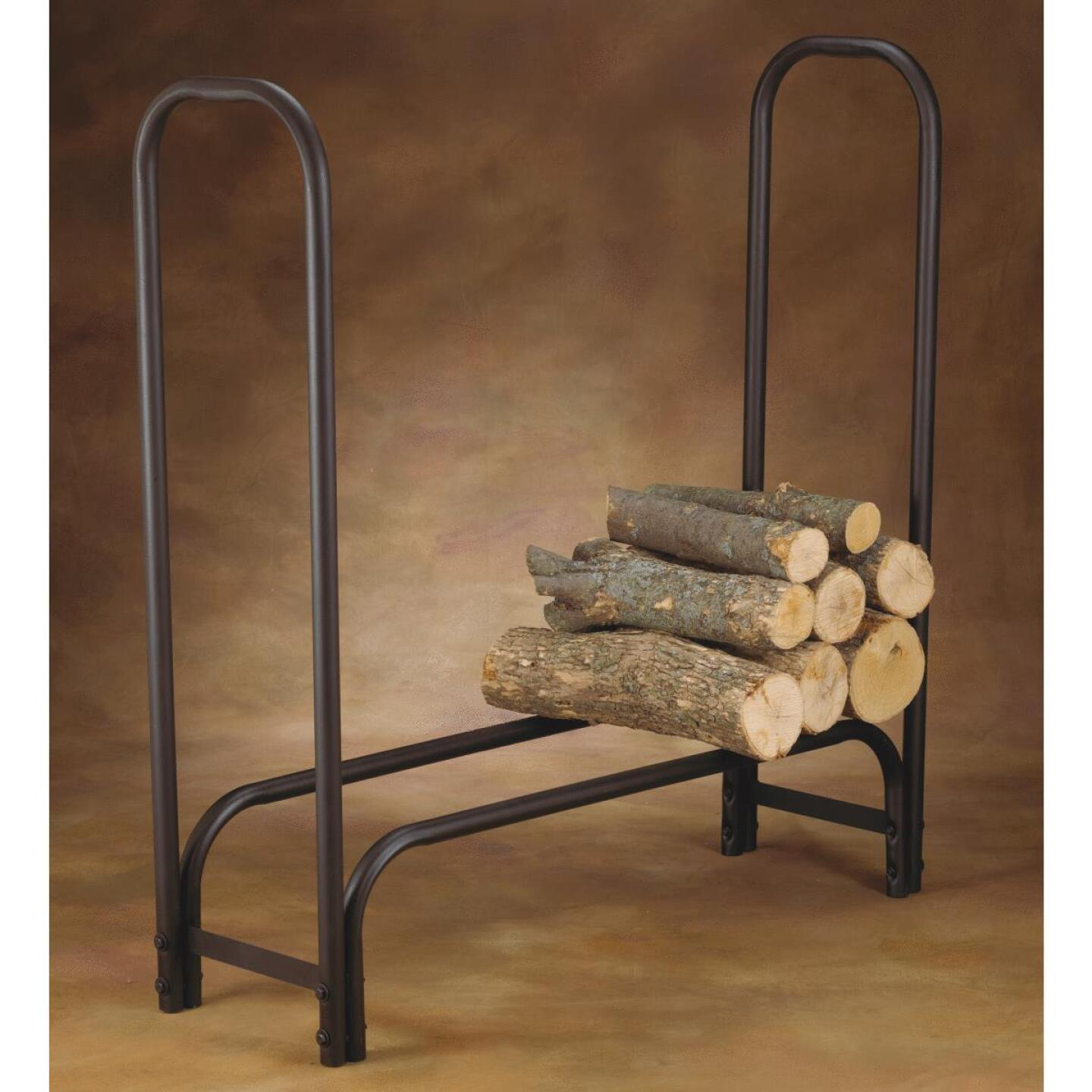 Home Impressions 4 Ft. Black Tubular Log Rack Image 2