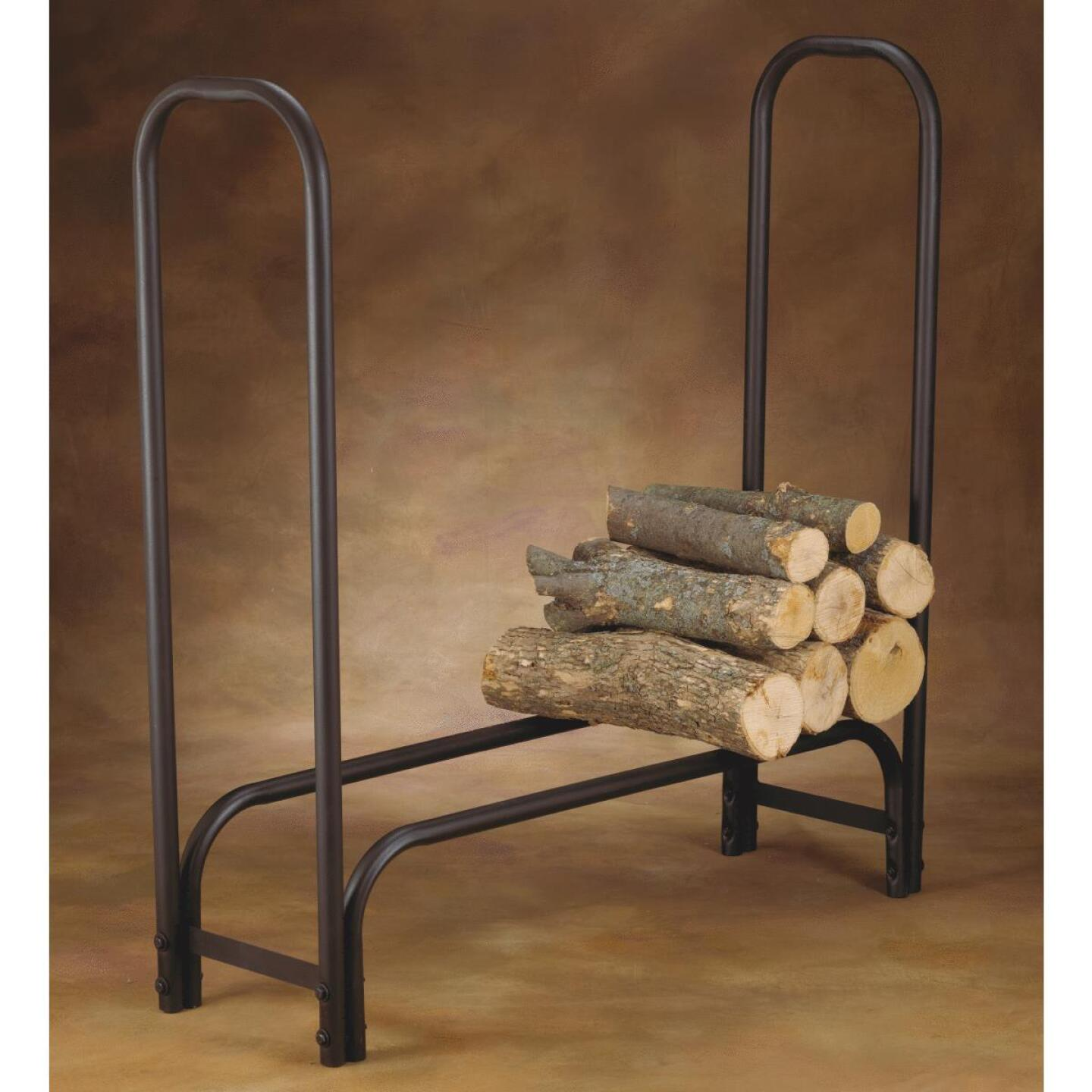 Home Impressions 4 Ft. Black Tubular Log Rack Image 3