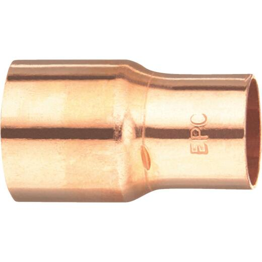 Mueller Streamline 3/8 In. x 1/4 In. Reducing Copper Coupling with Stop