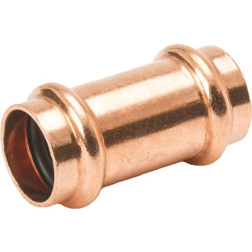 Streamline 3/4 In. x 3/4 In. Press Copper Coupling with Stop