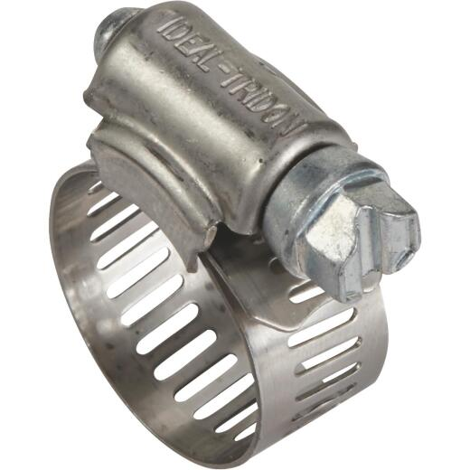 Ideal 7/16 In. - 1 In. 57 Stainless Steel Hose Clamp with Zinc-Plated Carbon Steel Screw