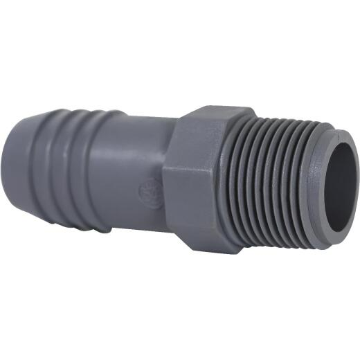 Boshart 1 In. Insert x 3/4 In. MIP Reducing Polypropylene Hose Adapter