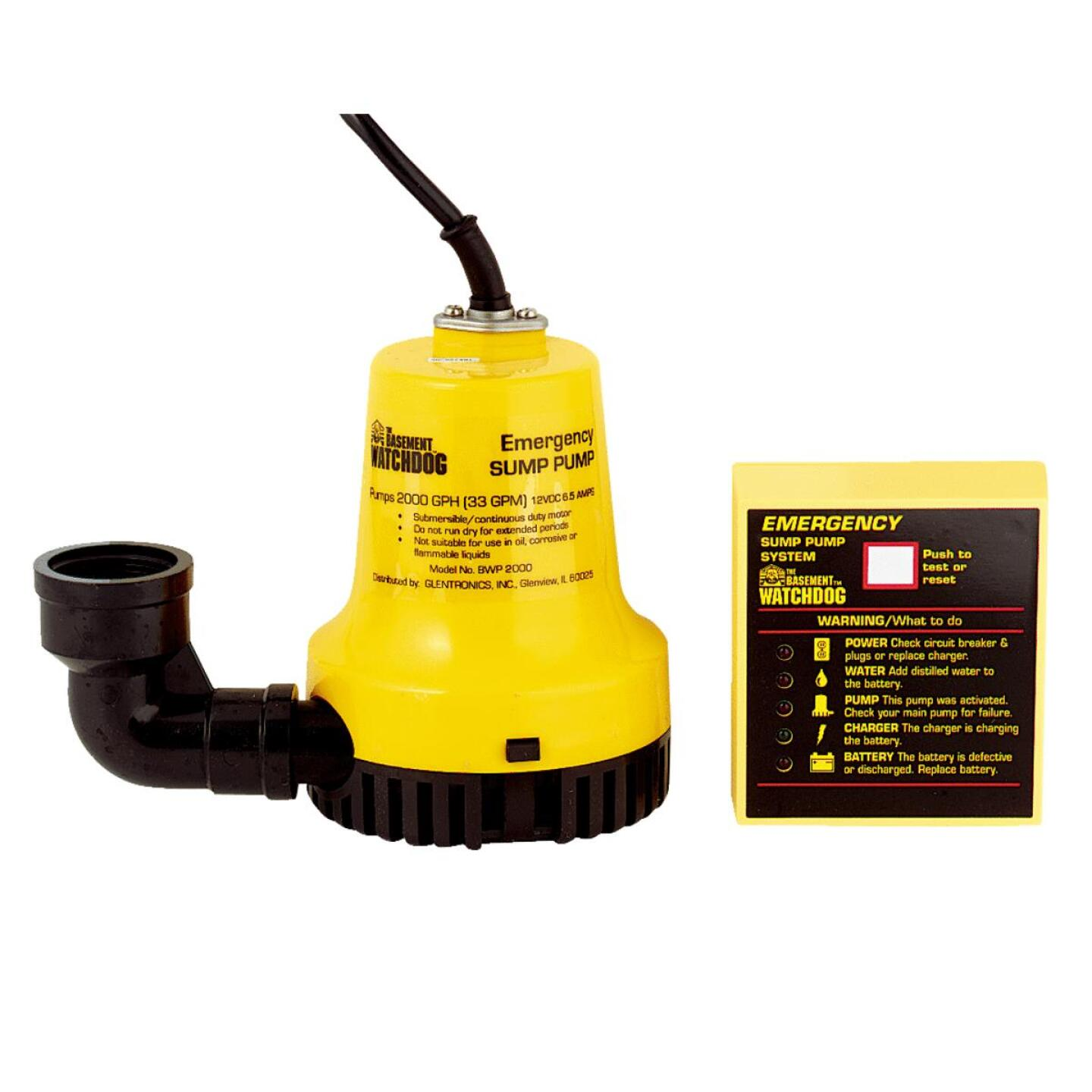 The Basement Watchdog Emergency Backup Sump Pump System Image 1